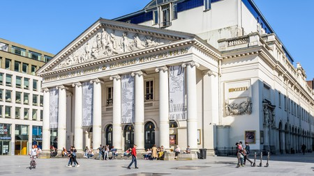 La Monnaie is a remarkable opera house in the historic center of Brussels, Belgium