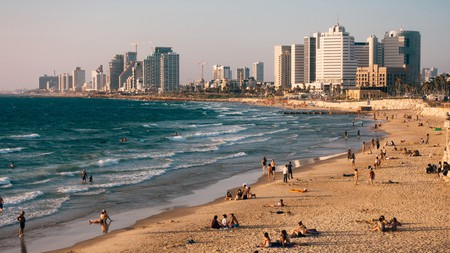 Alma Beach is just one of several serene spots in Tel Aviv