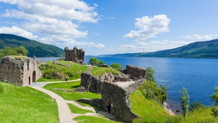 You might be able to spot Nessie from the ruins of Urquhart Castle