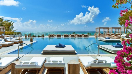 Top places to stay in Miami include the chic beachfront resort 1 Hotel South Beach