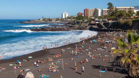 Tenerife has black-sand beaches formed by volcanic activity