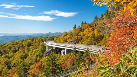 Grandfather Mountain features an explosion of color in the fall