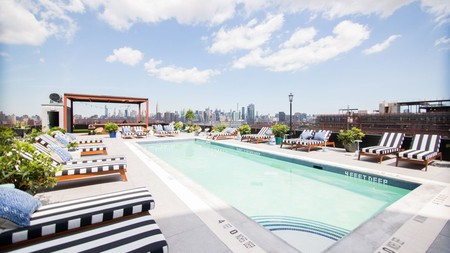 The Williamsburg Hotel, with rooftop pool, is just one of many trendy hotels in this Brooklyn neighborhood