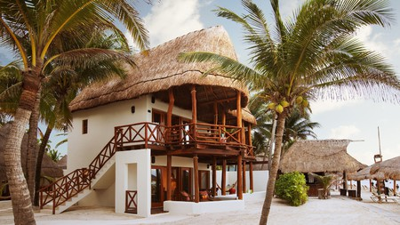 Hotels such as the Mahekal Beach Resort combine traditional style with modern comfort