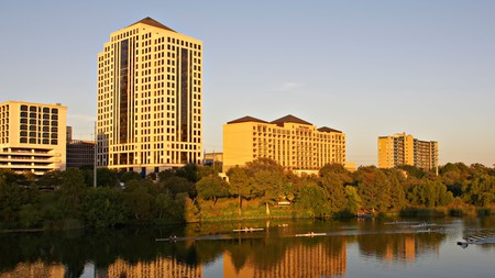 The Four Seasons, overlooking Lady Bird Lake in Austin, Texas