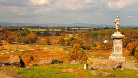 Gettysburg, in Pennsylvania, is worth a visit to see it in all its fall glory