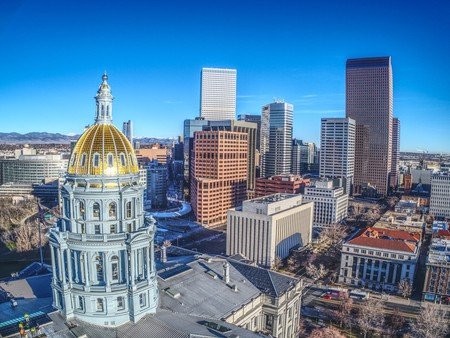 Downtown Denver and Capitol Building