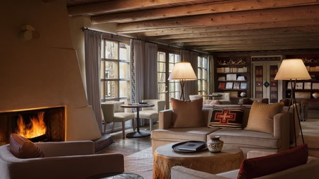 The Rosewood Inn of the Anasazi is a cozy boutique hotel in Santa Fe