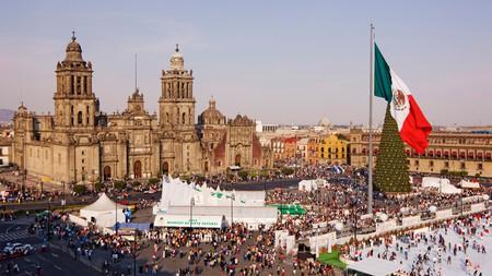 Christmas in the Plaza del Zócalo, Mexico City, Mexico