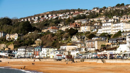 Ventnor beach is just one of the sandy seafronts you can enjoy when spending the weekend in a stylish hotel on the Isle of Wight