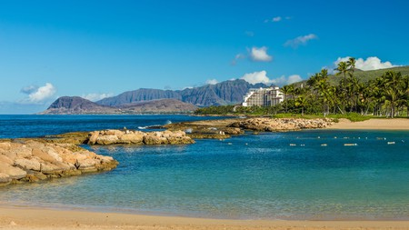 Ulua Lagoon, the first of four lagoons, lies close to the stunning Ko Olina resort on Leeward Oahu