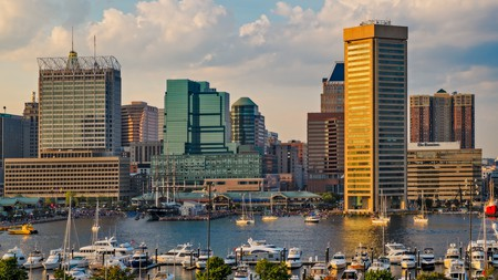 Catch a sunset from Federal Hill for the views over Baltimore