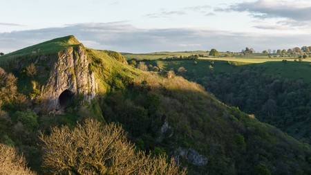 Thor's Cave, in the Peak District, is easy to reach on foot and the views from here are excellent