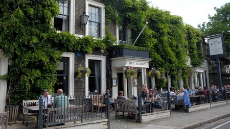 The Albion pub and garden in North London has plenty of outdoor seating, and is a great choice for drinks this winter