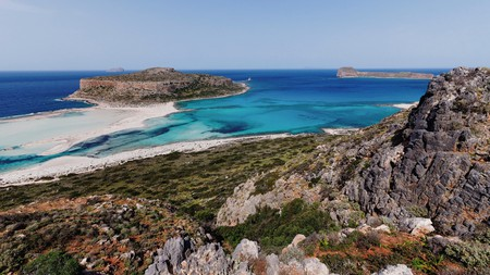 Hike from Akrotiri to Balos Cove and discover a prehistoric town that was buried beneath volcanic ash in the 17th century BCE