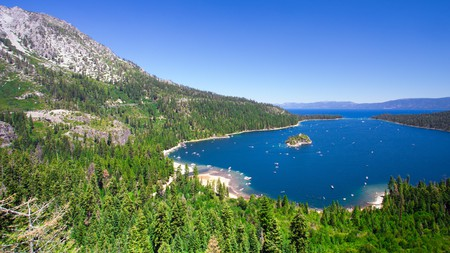 You can enjoy the beauty of Lake Tahoe from the air or the shore, or by taking a boat trip