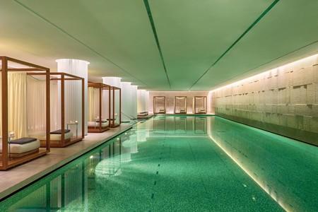 Poolside at the Bulgari Hotel, London
