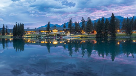 Fairmont Jasper Park Lodge is National Park luxury at its finest, with a village of heritage log cabins, and an award-winning golf course