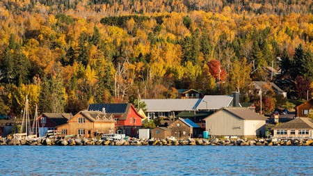 Grand Marais, on the north shore of Lake Superior, is awash with gold in the autumn