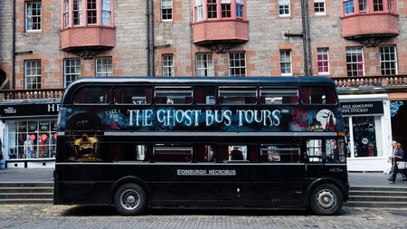 Take a Ghost Bus Tour to see the spooky side of Edinburgh