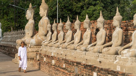 The Thai city of Ayutthaya is worth visiting for its stunning temples and historic sites