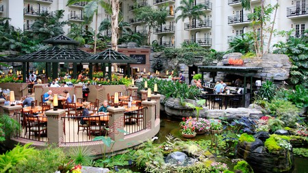 The Gaylord Opryland hotel resort in Nashville boasts a number of restaurants for guests to choose from, and takes pride in creating extraordinary environments