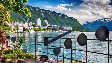 Montreux's beautiful lakeside setting has attracted many illustrious visitors over time