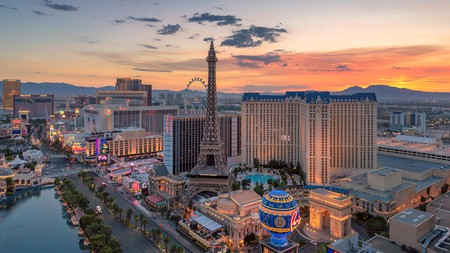 Stay up until dawn to watch the sunrise over Las Vegas