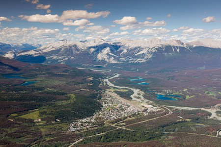 The pretty mountain town of Jasper is favored by outdoor enthusiasts