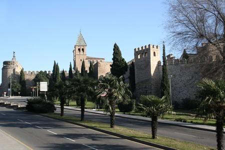 Puerta de Bisagra in Toledo Spain