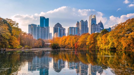 The colors of autumn can be enjoyed in many places around Georgia, including Atlanta itself