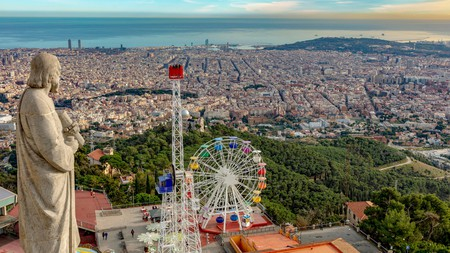 Barcelona is one of the top kid-friendly cities in Europe, with its Tibidabo amusement park offering family fun