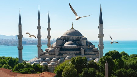 Blue Mosque and Bosphorus in Istanbul