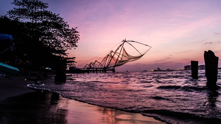 The traditional Chinese fishing nets in Kochi are a must-see