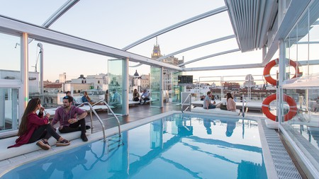Rooftop pools are a consistent feature of the best panoramic spaces in Madrid