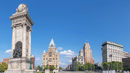 On your weekend break, make sure to visit Clinton Square in historic downtown Syracuse, New York