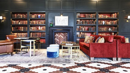 The Clayton Hotel Cambridge features an intimate library