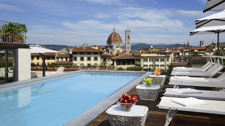 The stunning view from Grand Hotel Minerva is just one reason take a dip in the pool