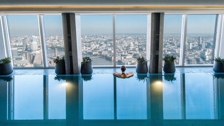 The Sky Pool in Shangri-La at the Shard looks down on London's landmarks from 52 storeys up