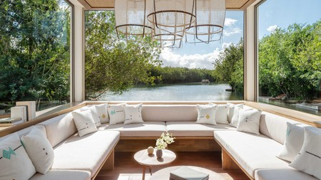 The Rosewood Mayakoba has some of the most relaxing hotel views in Playa del Carmen