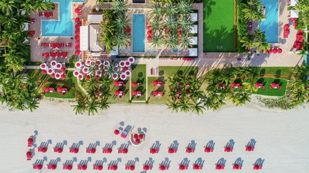 Acqualina Resort and Spa is just a few sandy steps away from the ocean