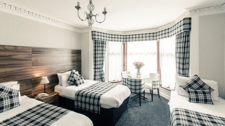 No such thing as too much tartan at Argyll Guest House in the West End of Glasgow