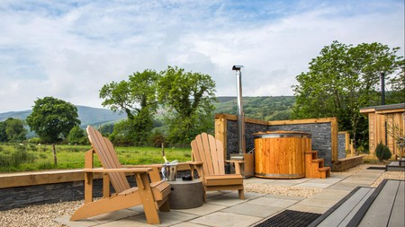 Add extra relaxation to your trip to Scotland with a soak in a hot tub with a view