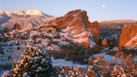 The Garden of the Gods Park is a beautiful place to visit year-round in Colorado
