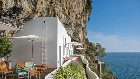 Casa Angelina is built into the cliffside on the edge of Praiano