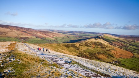 Wrap up warm for a walk on Mam Tor