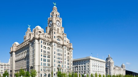 Just by the Liverpool waterfront, you'll find the Three Graces buildings