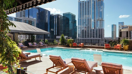 Relax poolside at the Hotel ZaZa Austin