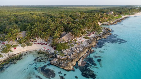 Diamante K Hotel in Tulum, Mexico is an eco-friendly oasis in the Caribbean jungle. Solar-powered luxury surrounded by Mayan ruins and white sand beaches