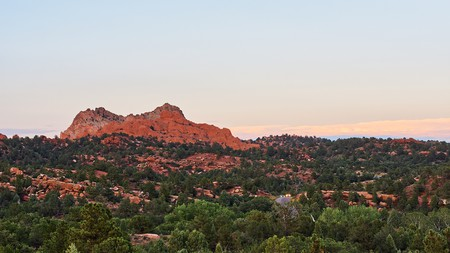 Take in beautiful views from your hotel balcony in Colorado Springs